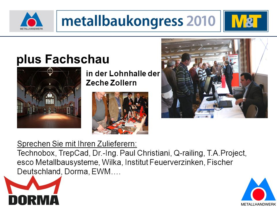 8 plus: Verleihung des M&T-Erfinderpreises 2010 Hier erleben Sie großen Erfindungsreichtum.