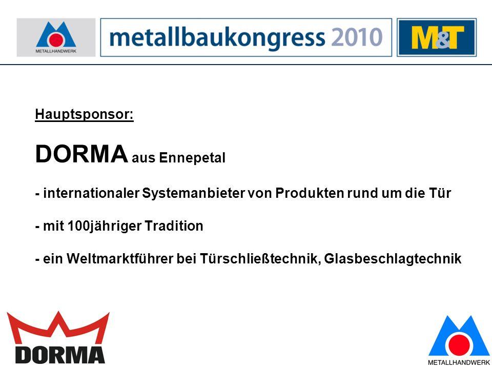 10 Infos und Anmeldung: www.metallbaukongress.de
