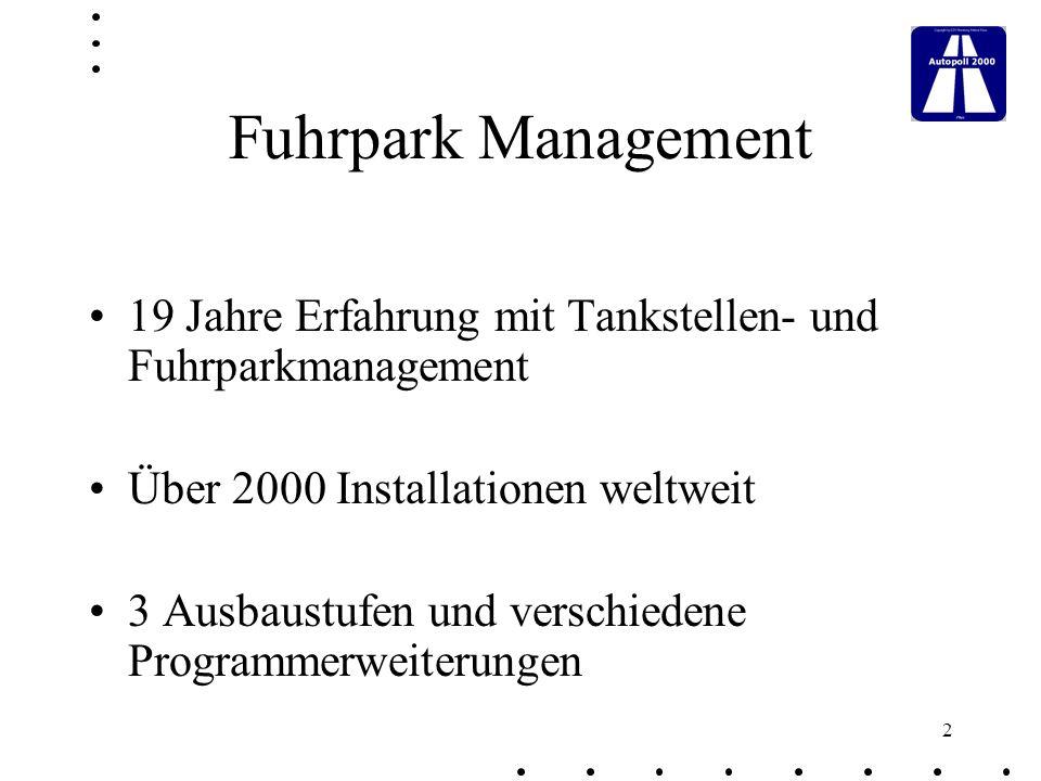 23 Terminüberwachung Verwaltung von Überwachungsarten Zuordnung der Überwachungsarten zu Fahrzeugen und Geräten Terminliste