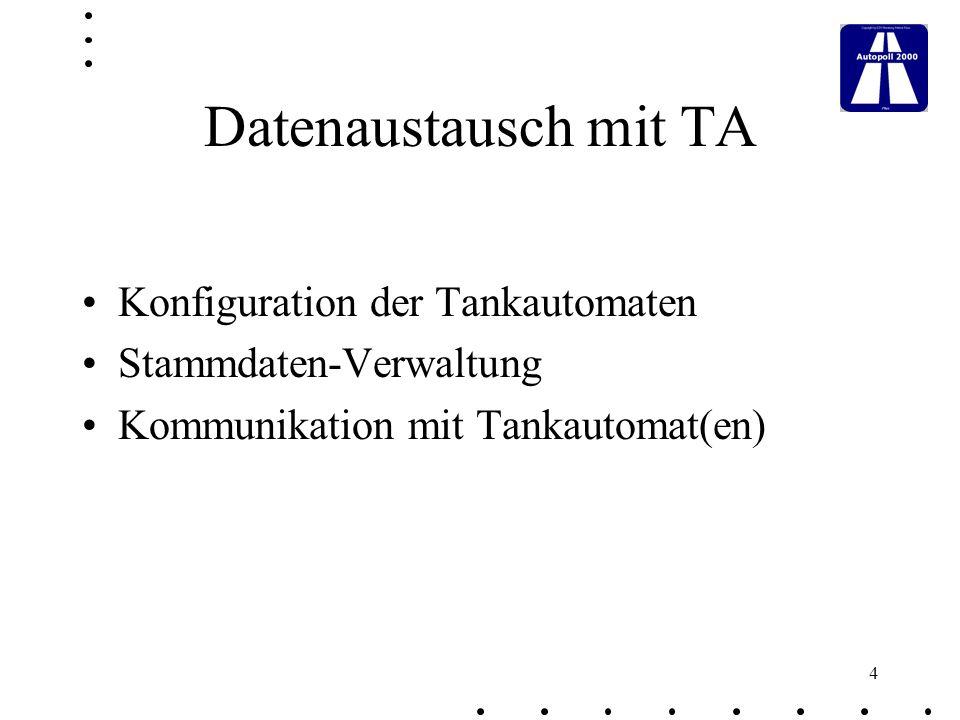 35 Jobsteuerung zeitgesteuerter Ablauf von Jobs Beispiel: Import einer Sperrdatei Datenaustausch mit Tankautomaten Export der Tankdaten