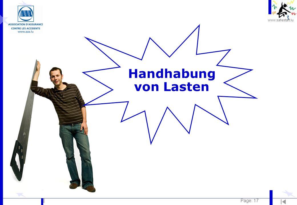 www.safestart.lu Page: 17 Handhabung von Lasten