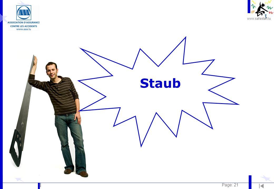 www.safestart.lu Page: 21 Staub