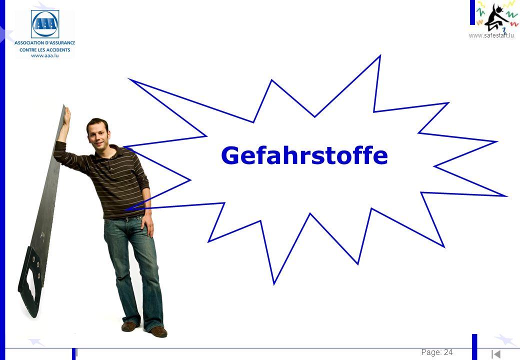 www.safestart.lu Page: 24 Gefahrstoffe
