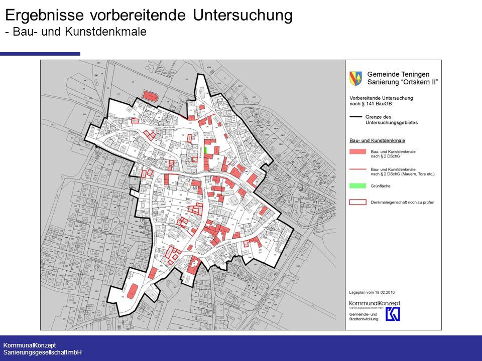 KommunalKonzept Sanierungsgesellschaft mbH Ergebnisse vorbereitende Untersuchung - Bau- und Kunstdenkmale
