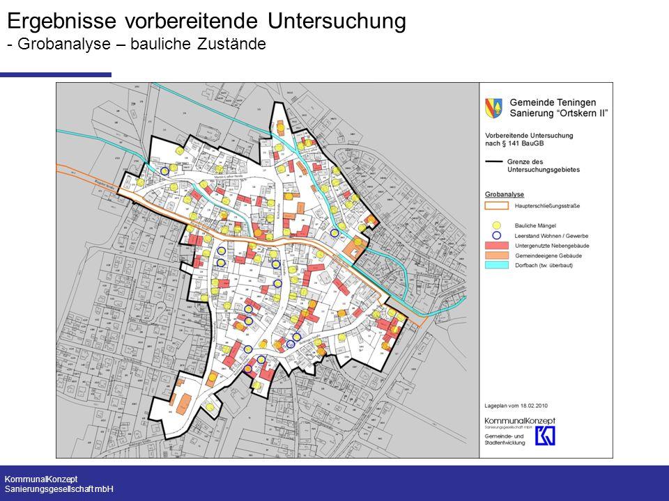 KommunalKonzept Sanierungsgesellschaft mbH Ergebnisse vorbereitende Untersuchung - Grobanalyse – bauliche Zustände