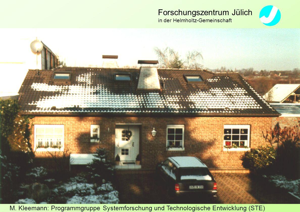 M. Kleemann: Programmgruppe Systemforschung und Technologische Entwicklung (STE) Forschungszentrum Jülich in der Helmholtz-Gemeinschaft