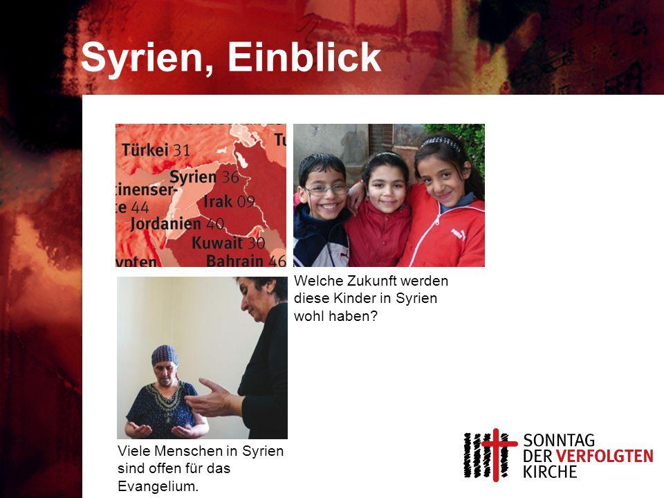 Syrien, Einblick Viele Menschen in Syrien sind offen für das Evangelium.