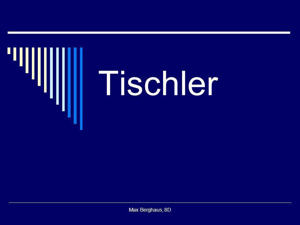 Max Berghaus, 8D Tischler