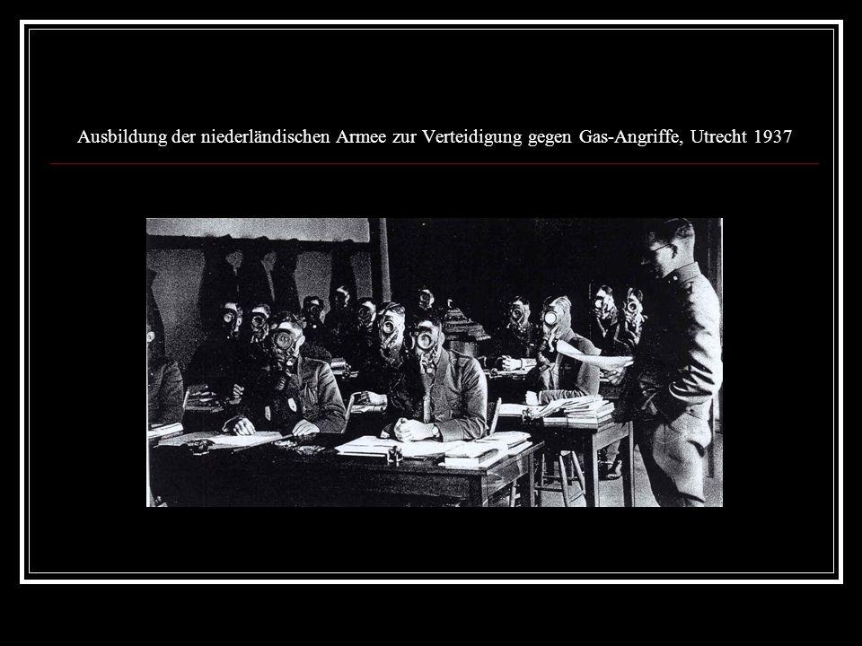 Ausbildung der niederländischen Armee zur Verteidigung gegen Gas-Angriffe, Utrecht 1937