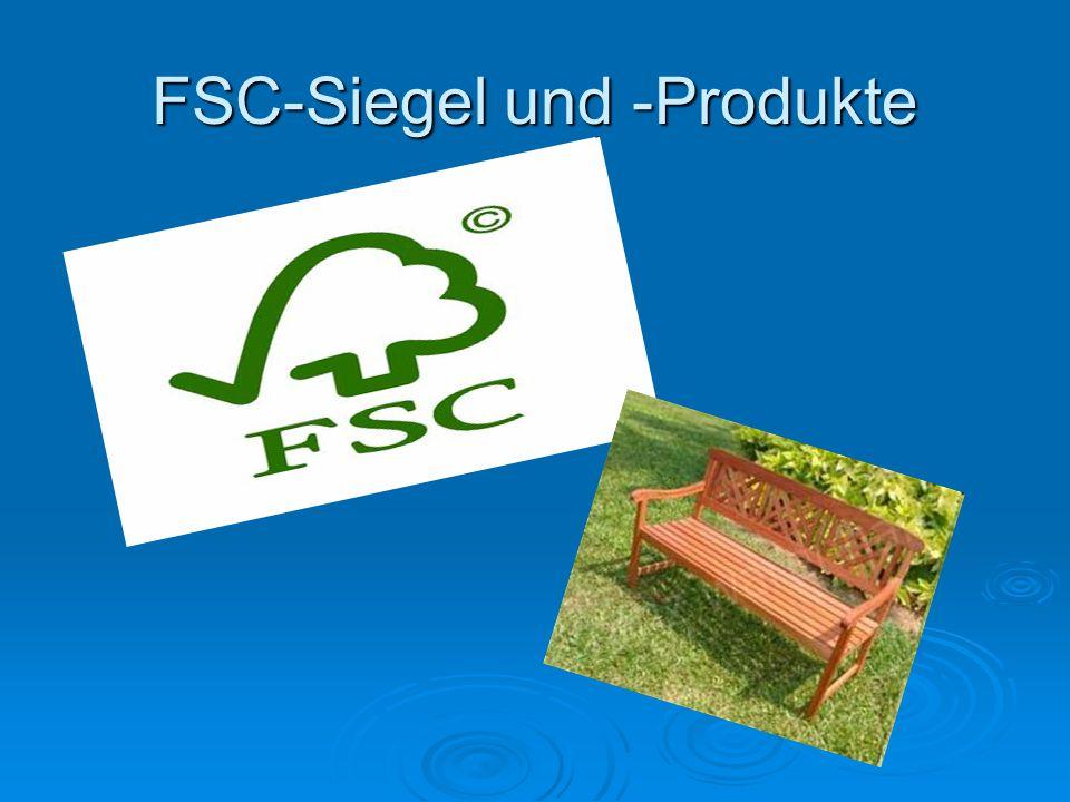 FSC-Siegel und -Produkte