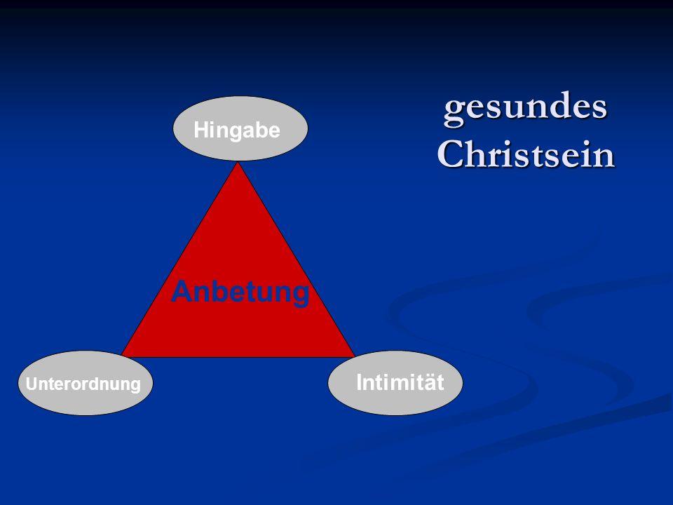gesundes Christsein Anbetung Hingabe Intimität Unterordnung