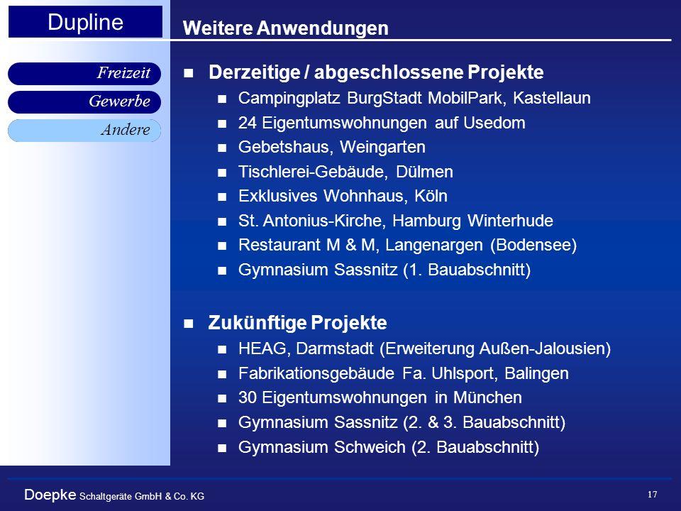 Doepke Schaltgeräte GmbH & Co. KG Gewerbe Freizeit Andere Dupline 17 Weitere Anwendungen Andere Derzeitige / abgeschlossene Projekte Campingplatz Burg