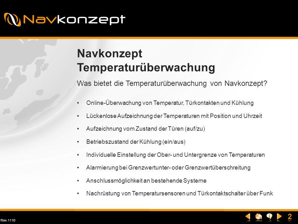 Rev.1110 Was bietet die Temperaturüberwachung von Navkonzept? Navkonzept Temperaturüberwachung Online-Überwachung von Temperatur, Türkontakten und Küh