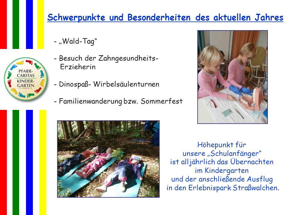 Höhepunkt für unsere Schulanfänger ist alljährlich das Übernachten im Kindergarten und der anschließende Ausflug in den Erlebnispark Straßwalchen. - W