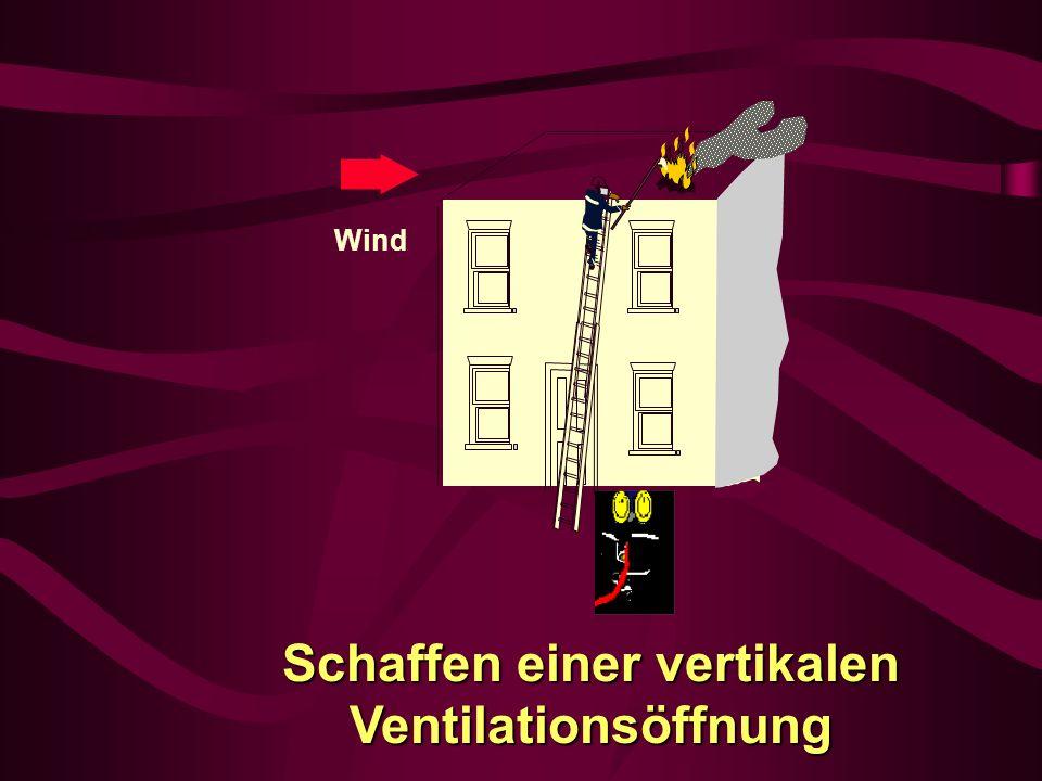 Schaffen einer vertikalen Ventilationsöffnung Wind