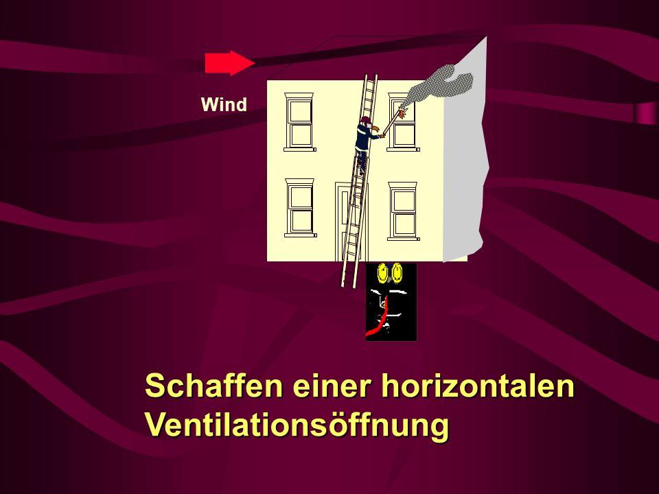 Schaffen einer horizontalen Ventilationsöffnung Wind