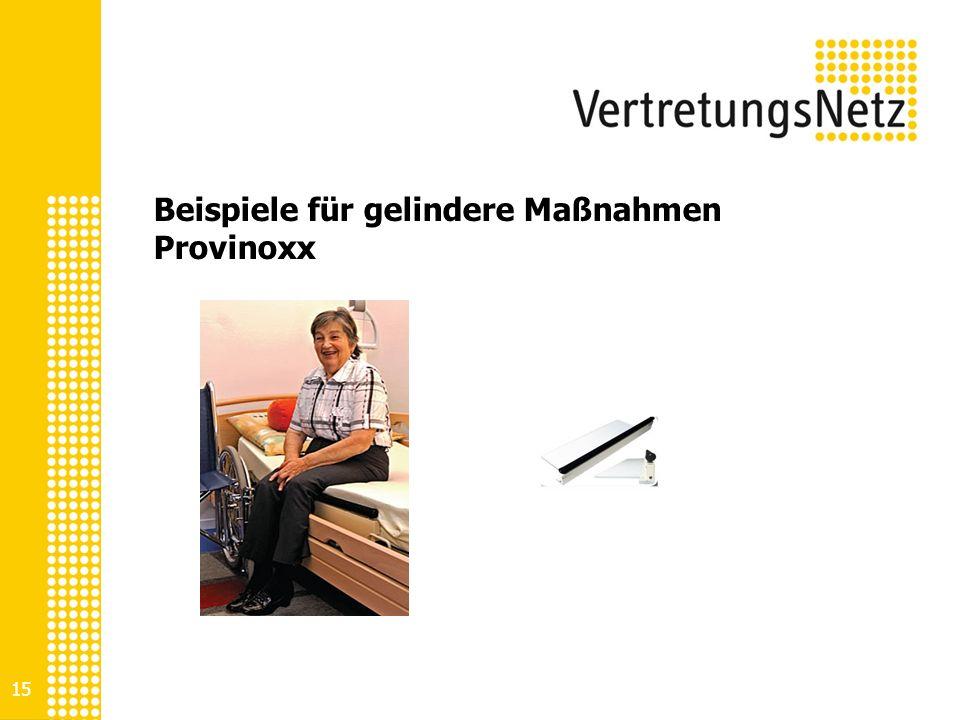 15 Beispiele für gelindere Maßnahmen Provinoxx