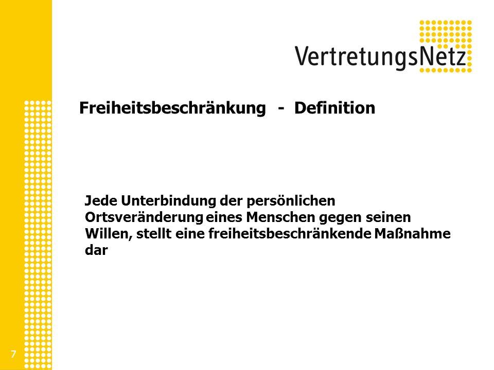 Freiheitsbeschränkung - Beispiele Mechanische Maßnahmen wie z.B.