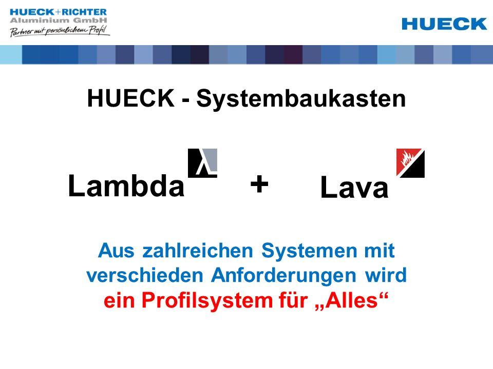 HUECK - Systembaukasten Lambda Lava + Aus zahlreichen Systemen mit verschieden Anforderungen wird ein Profilsystem für Alles