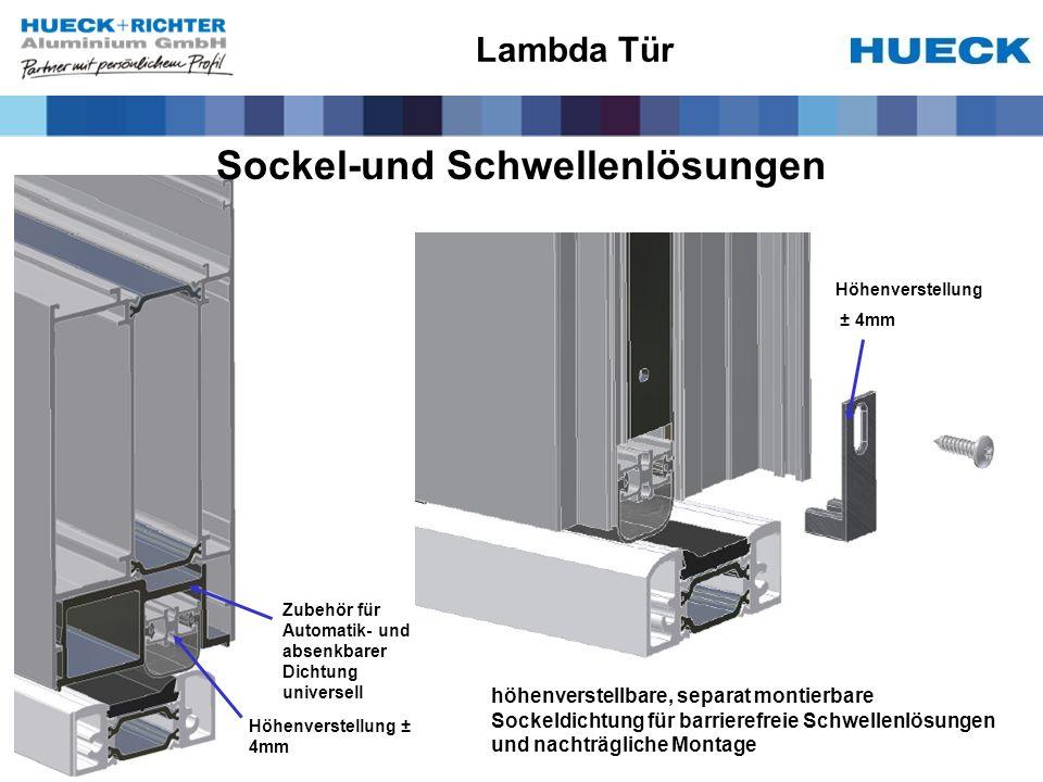 Höhenverstellung ± 4mm Höhenverstellung ± 4mm Zubehör für Automatik- und absenkbarer Dichtung universell Lambda Tür höhenverstellbare, separat montier