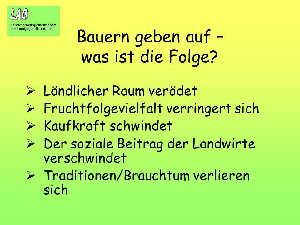 Landesarbeitsgemeinschaft der Landjugend Nordrhein Was passiert danach.