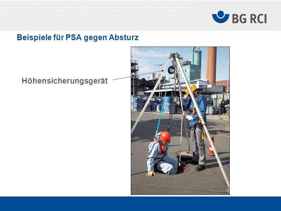 Beispiele für PSA gegen Absturz Höhensicherungsgerät