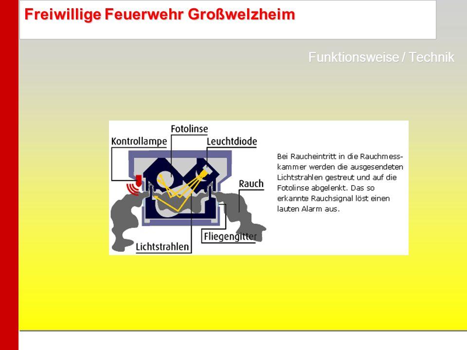 Freiwillige Feuerwehr Großwelzheim Funktionsweise / Technik