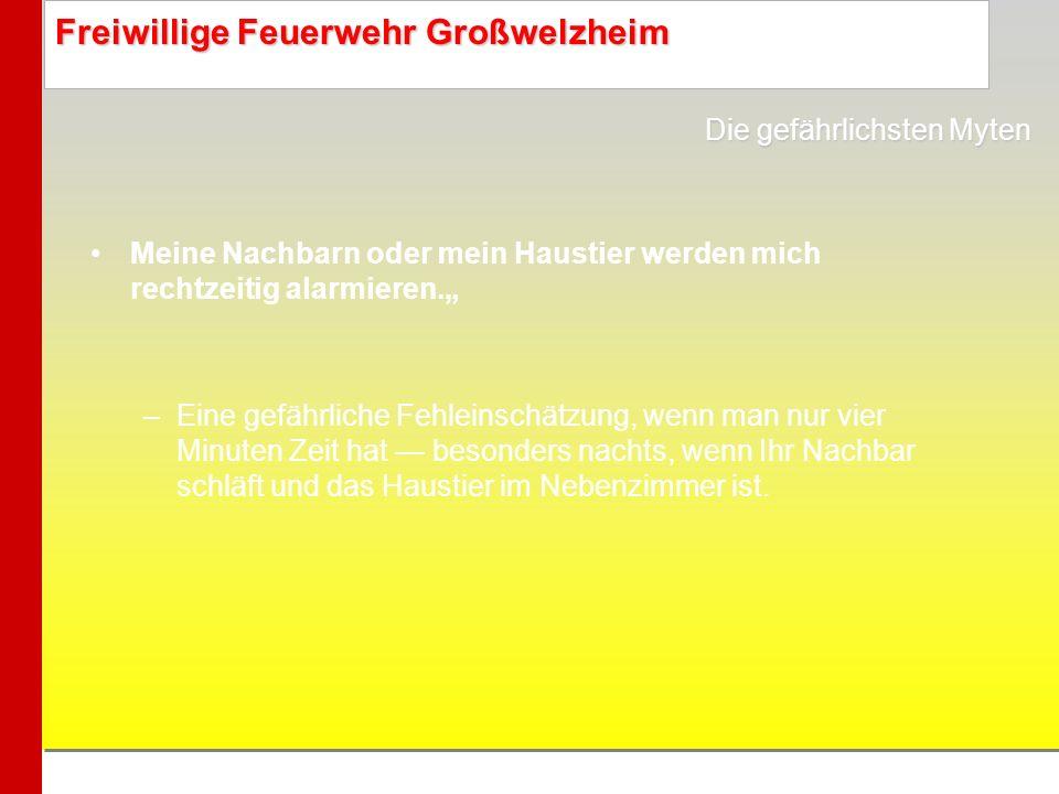 Freiwillige Feuerwehr Großwelzheim Andere Länder, weniger Opfer Im sonst so sicherheitsbewussten Deutschland sind Rauchmelder gesetzlich nicht vorgeschrieben.