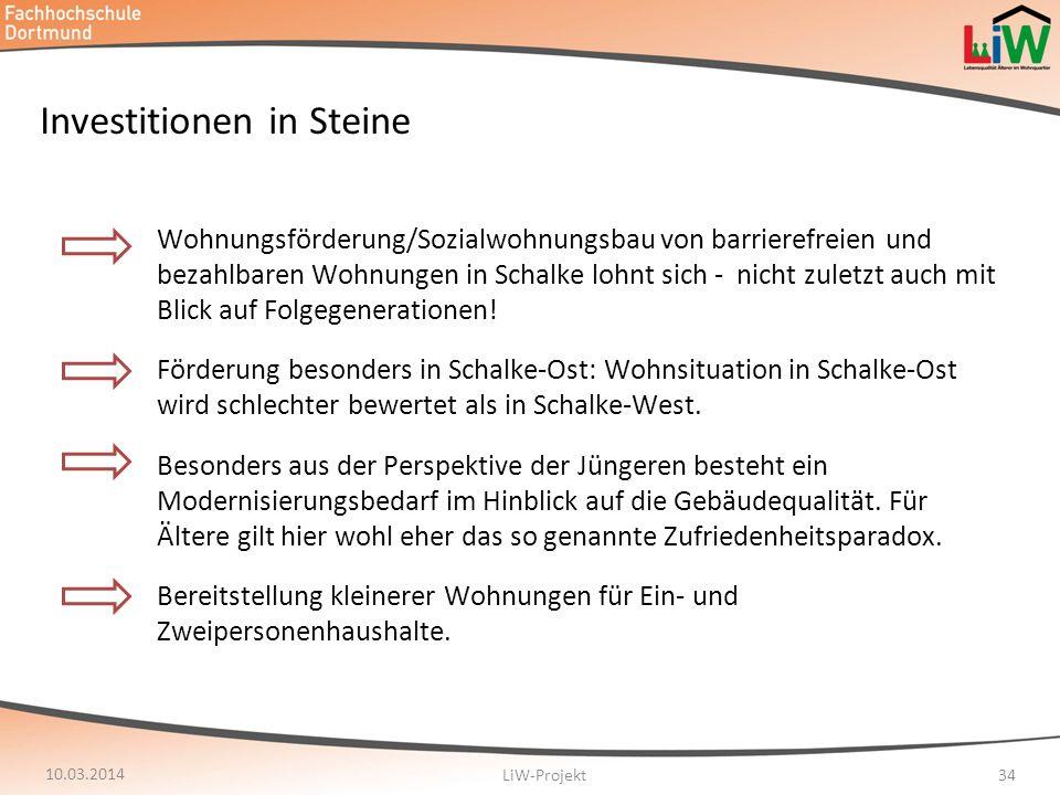 Investitionen in Steine Wohnungsförderung/Sozialwohnungsbau von barrierefreien und bezahlbaren Wohnungen in Schalke lohnt sich - nicht zuletzt auch mi