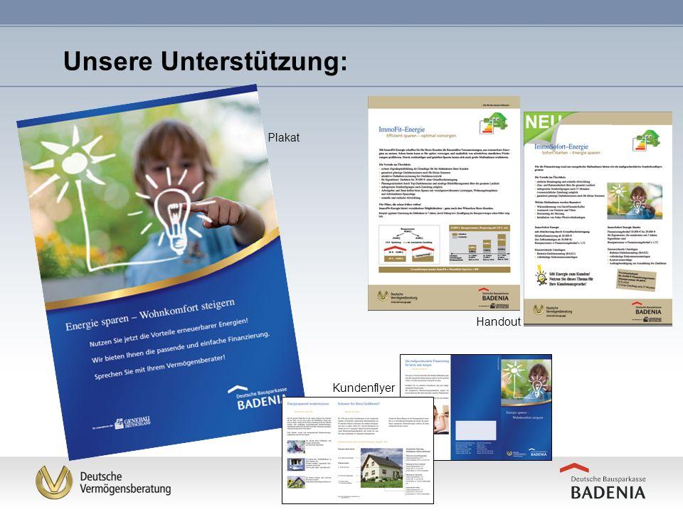 Plakat Handout Unsere Unterstützung: Kundenflyer