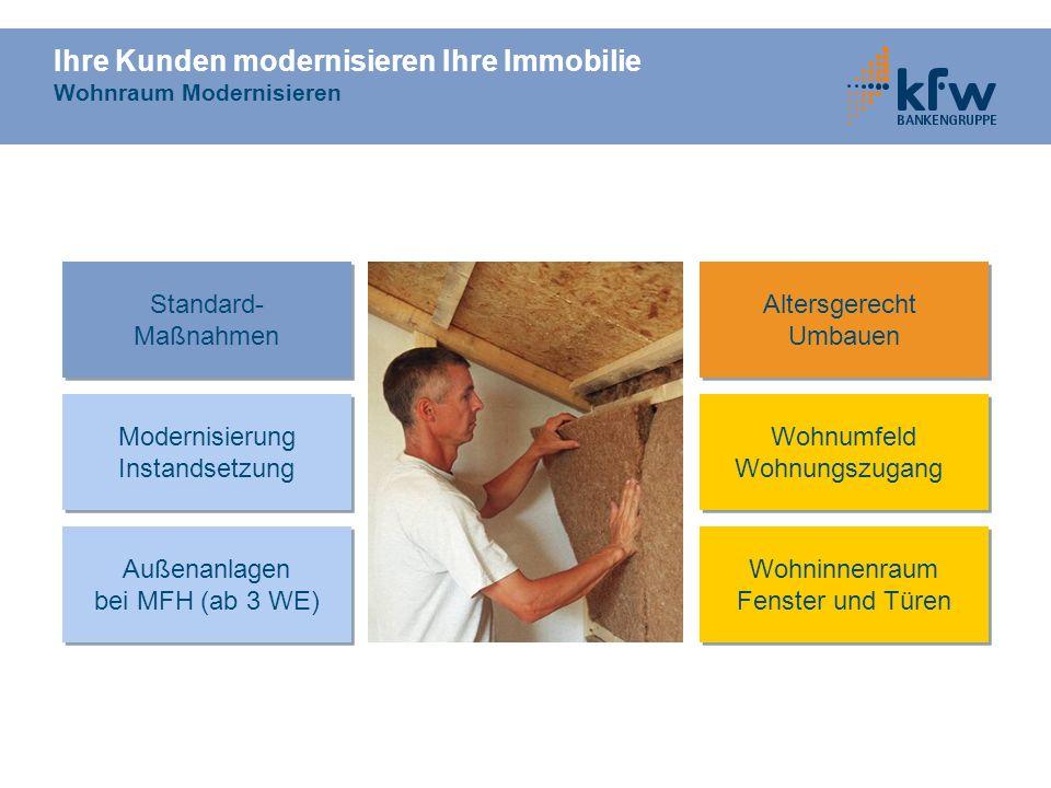 Ihre Kunden modernisieren Ihre Immobilie Wohnraum Modernisieren Altersgerecht Umbauen Altersgerecht Umbauen Modernisierung Instandsetzung Modernisieru