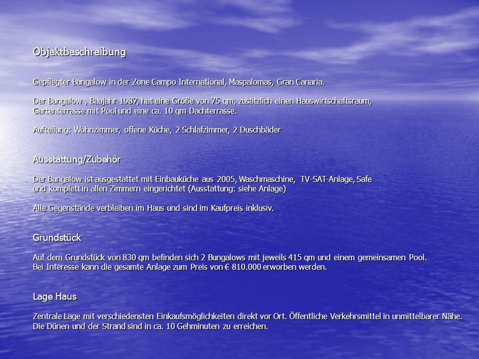 Anbei ein paar Infos zum Haus auf Gran Canaria.
