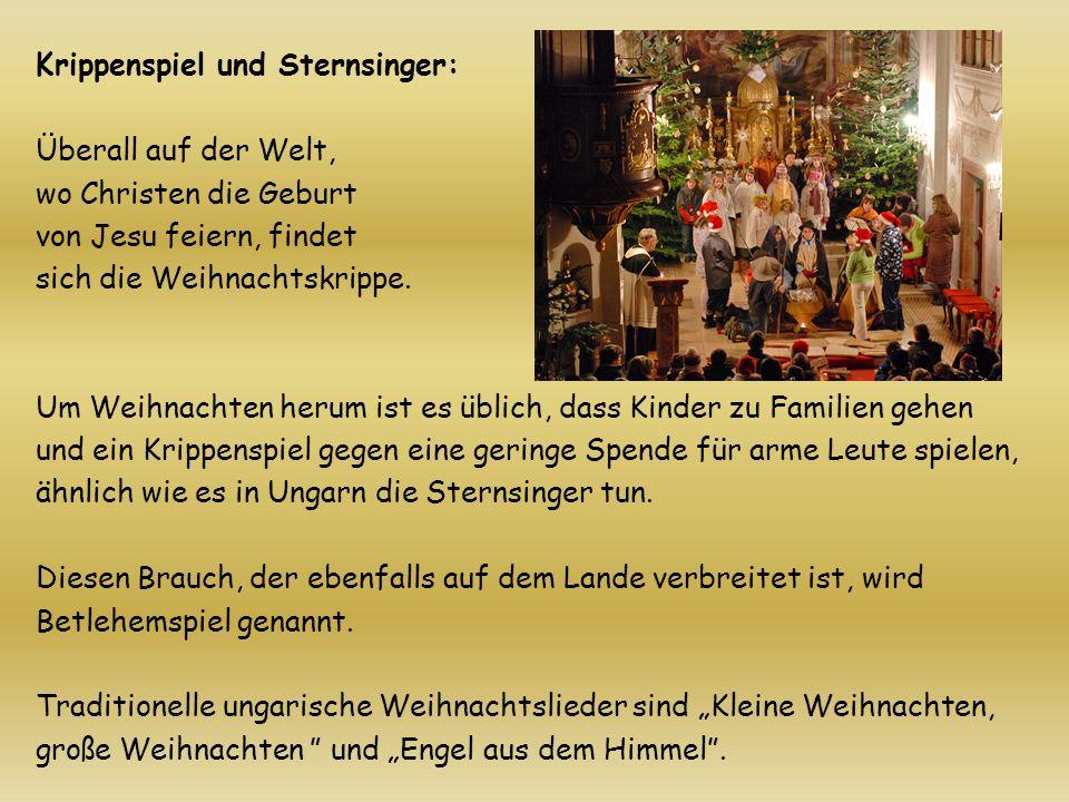 Krippenspiel und Sternsinger: Überall auf der Welt, wo Christen die Geburt von Jesu feiern, findet sich die Weihnachtskrippe. Um Weihnachten herum ist