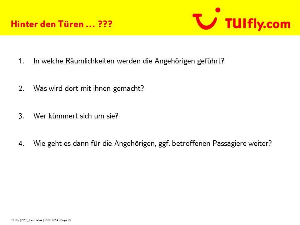TUIfly   PPT_Templates   10.03.2014   Page 18 Hinter den Türen … ??.