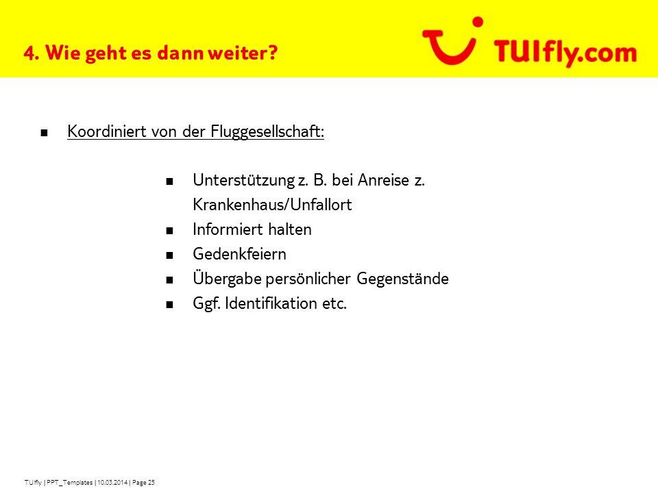 TUIfly   PPT_Templates   10.03.2014   Page 25 4.Wie geht es dann weiter.