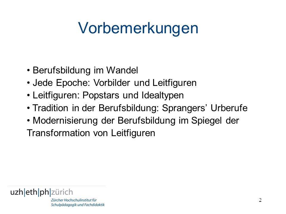 3 Moderne Berufsbildung: ihre Entstehung Gewerbliche, kaufmännische und handwerkliche Tradition der Lehre beim Meister bzw.