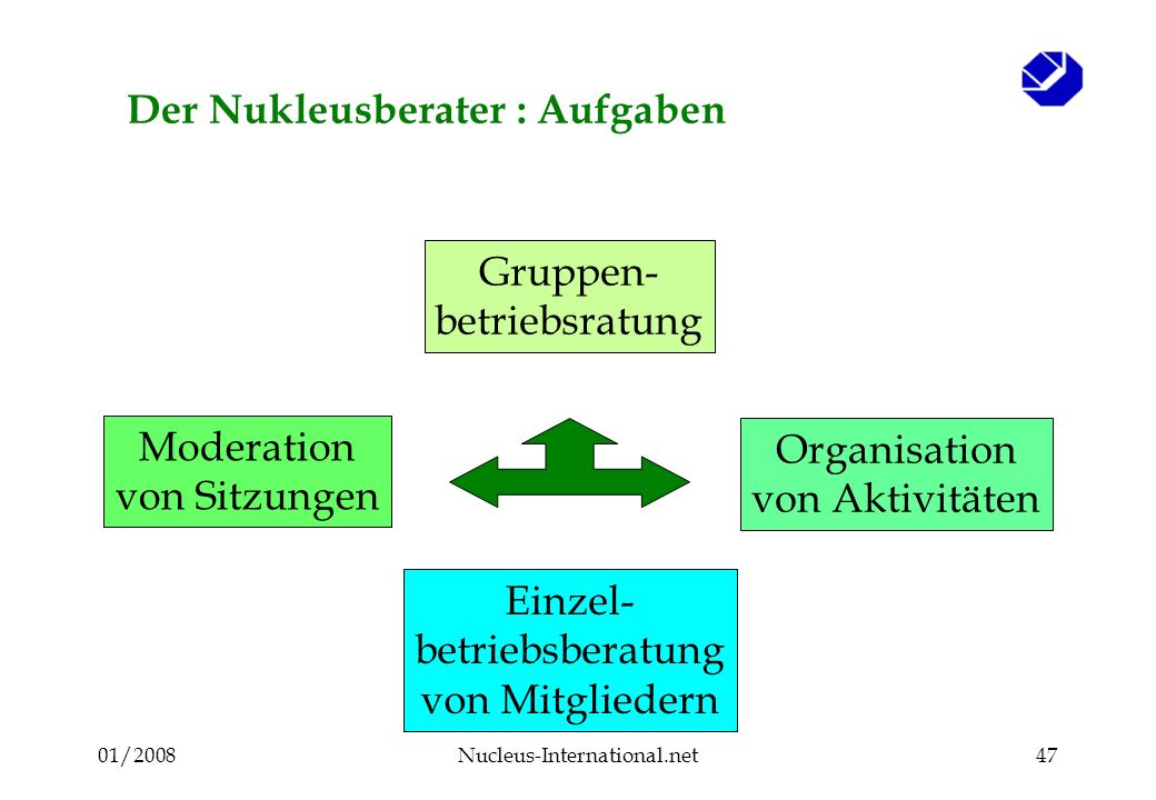 01/2008Nucleus-International.net46 4. Der Nukleus Berater