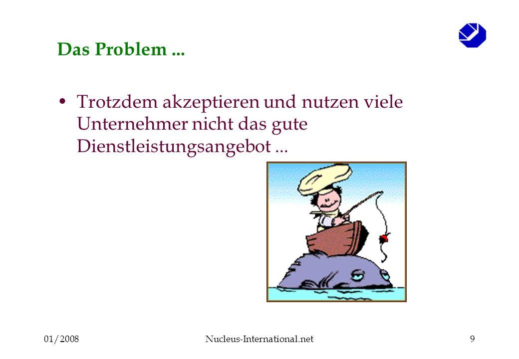 01/2008Nucleus-International.net19 Falls die Beschreibung der KMU richtig ist, dann stellen sich einige Schlüsselfragen : Wie erreicht man diesen Unternehmer .