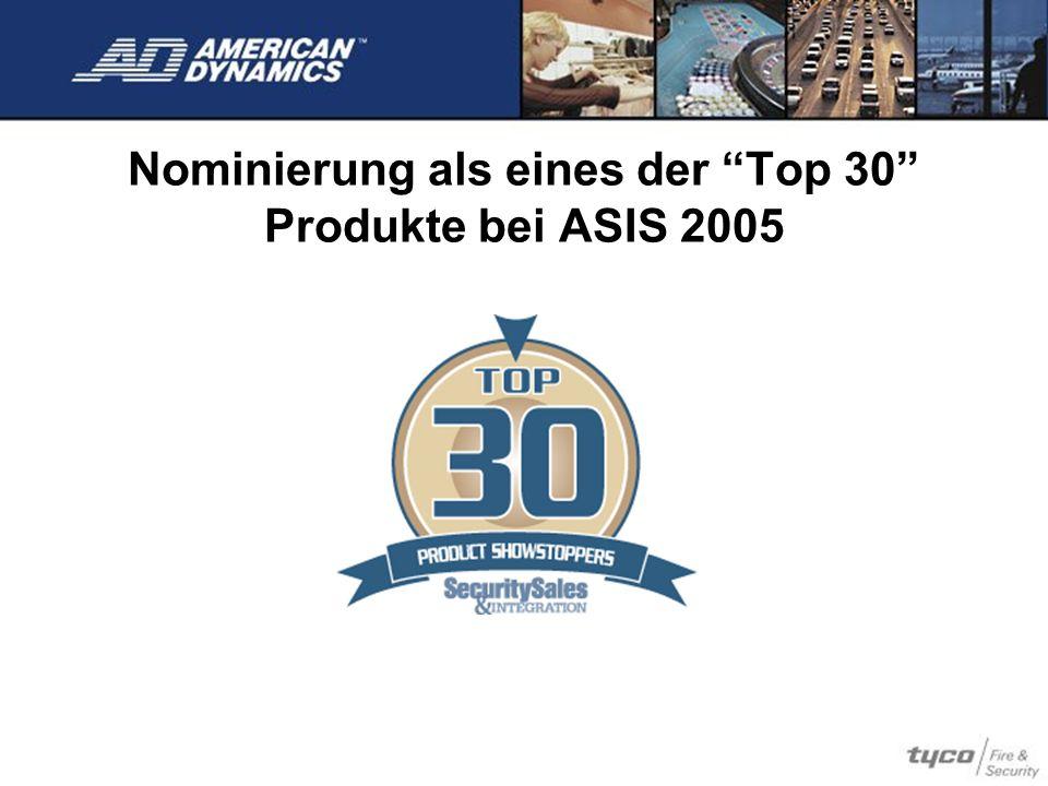 Nominierung als eines der Top 30 Produkte bei ASIS 2005