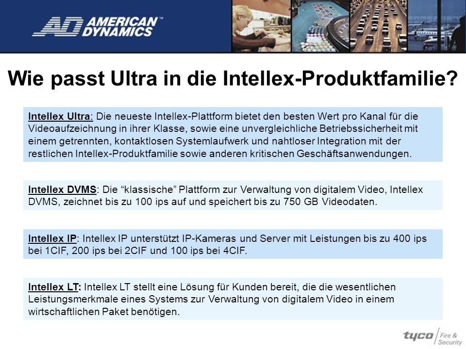 Wie passt Ultra in die Intellex-Produktfamilie? Intellex Ultra: Die neueste Intellex-Plattform bietet den besten Wert pro Kanal für die Videoaufzeichn