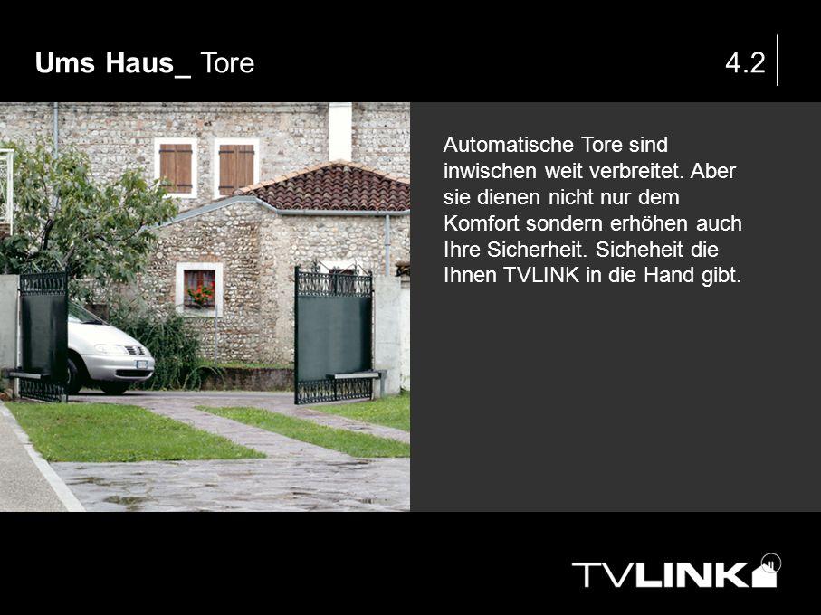 Ums Haus_ Tore4.2 Automatische Tore sind inwischen weit verbreitet. Aber sie dienen nicht nur dem Komfort sondern erhöhen auch Ihre Sicherheit. Sicheh