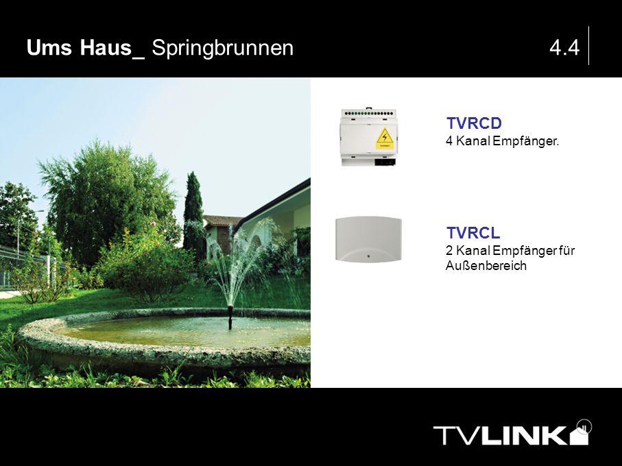 Ums Haus_ Springbrunnen4.4 TVRCD 4 Kanal Empfänger. TVRCL 2 Kanal Empfänger für Außenbereich