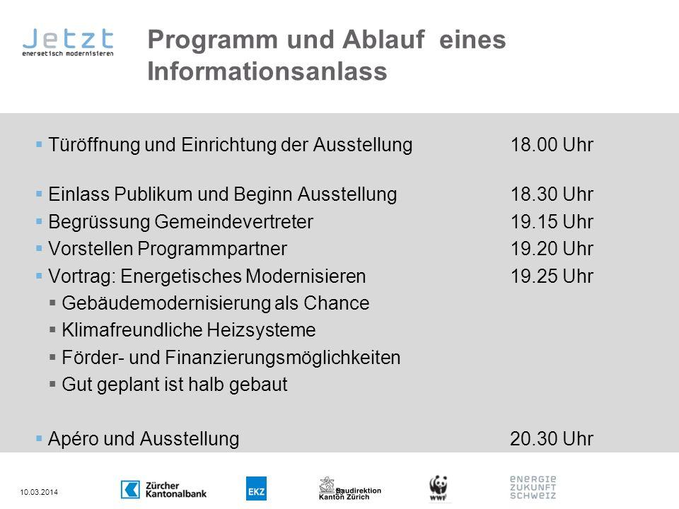 Programm und Ablauf eines Informationsanlass Türöffnung und Einrichtung der Ausstellung18.00 Uhr Einlass Publikum und Beginn Ausstellung18.30 Uhr Begr