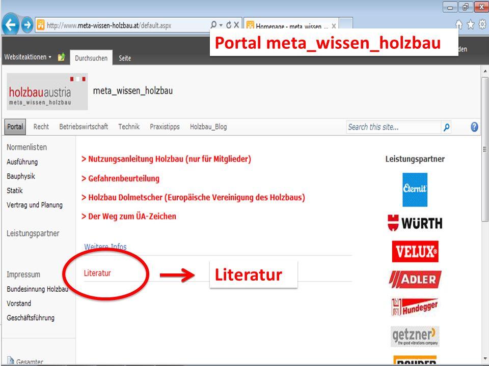 Literatur Portal meta_wissen_holzbau