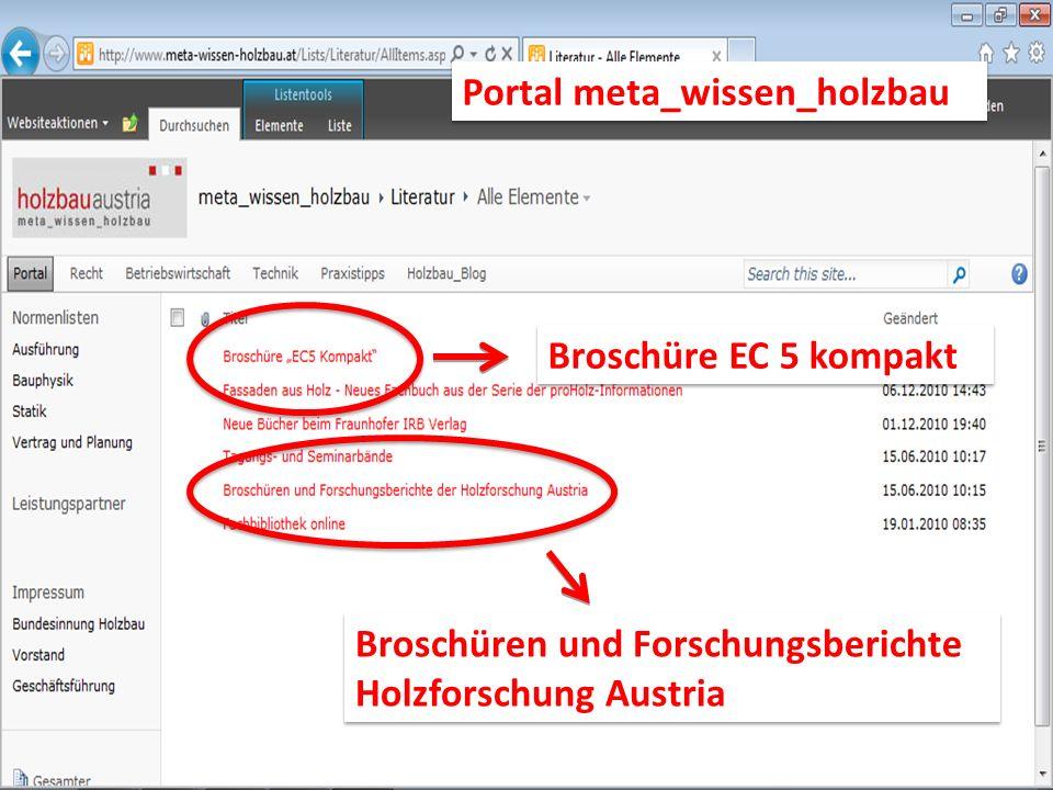 Broschüre EC 5 kompakt Portal meta_wissen_holzbau Broschüren und Forschungsberichte Holzforschung Austria Broschüren und Forschungsberichte Holzforschung Austria