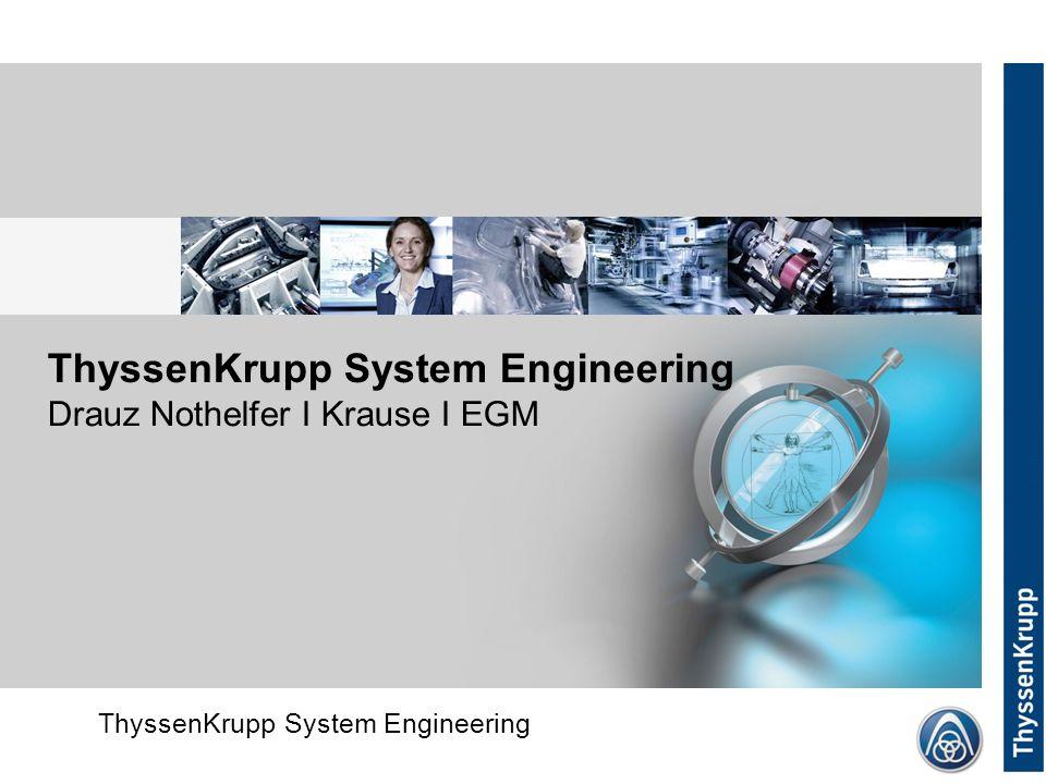 ThyssenKrupp System Engineering Corporate (without Divsion) ThyssenKrupp System Engineering Drauz Nothelfer I Krause I EGM