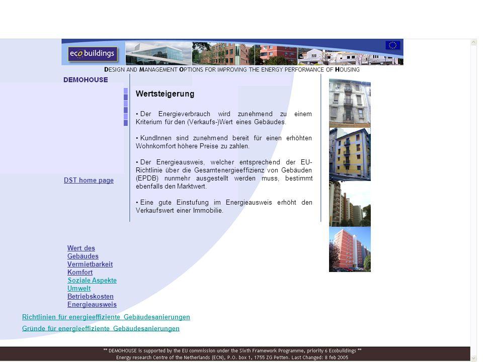 Der Energieverbrauch wird zunehmend zu einem Kriterium für den (Verkaufs-)Wert eines Gebäudes.