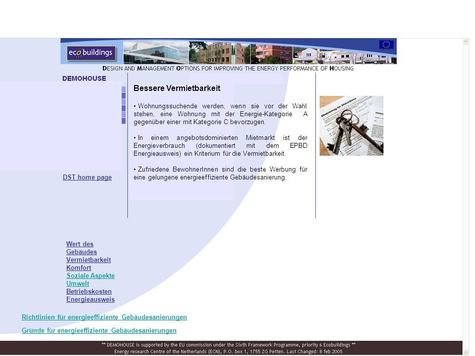 Die Grundlage des Green Build Questionnaire- ist das dänische Green Build Tool, ein Gebäudebewertungstool, welches Energie- und Umweltaspekte erfasst.