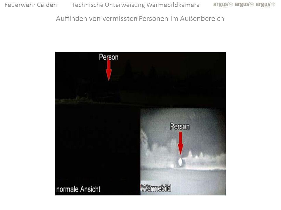 Feuerwehr CaldenTechnische Unterweisung Wärmebildkamera Auffinden von vermissten Personen im Außenbereich
