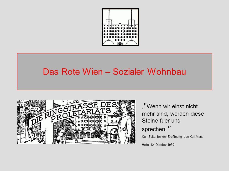 Das Rote Wien – Sozialer Wohnbau